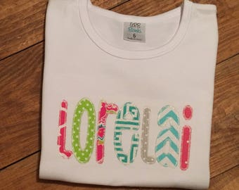 Girls personalized name shirt, girls name shirt