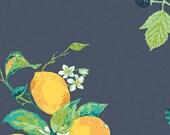 Frutteria Bleu - Art Gallery Fabric - Mediterraneo byKatarina Roccella - Fruits and Nuts Fabric - Mediterranean Fabric - By the Yard