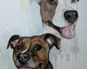 Pet Portraits in Watercolor. Pet Memorials to remember your loved ones.