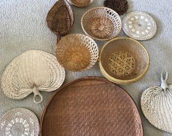 11 piece wall basket collection