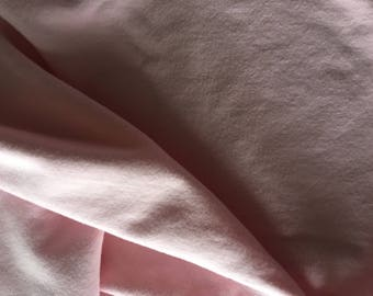 Bamboo Stretch Fleece, Light Pink, 300gsm, 4 Way Stretch, By the 1/2 Meter.