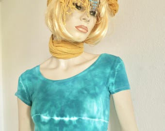 Gypsy top, size S, hippie, party, Summertop, girl, Green
