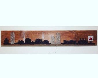 Boston skyline string art