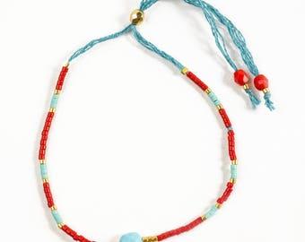 Miyuki and Turquoise bracelet