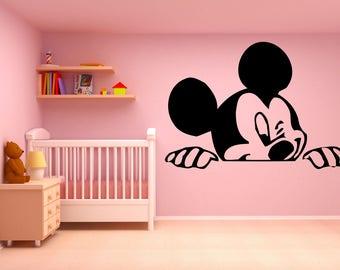 Micky Maus Kinderzimmer | Mickey Mouse Aufkleber Etsy