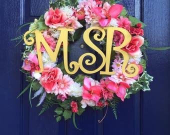 Monogram for wreath