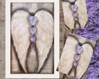 Blue heart wings 900mm-600mm