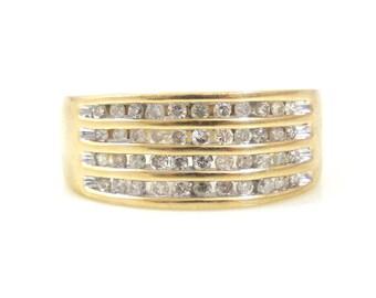 Diamond Filled 10K Gold Band - X4218