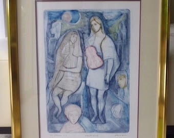 Listed Artist Irving Amen (1918-2011) Hand Signed Artist's Proof Lithograph
