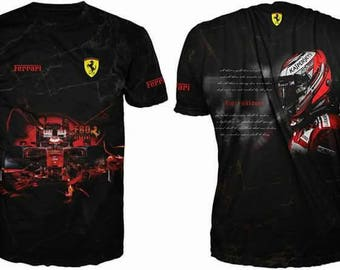 New ultramodern 3D  High Quality Ferrari  short sleeve Men's T-shirt