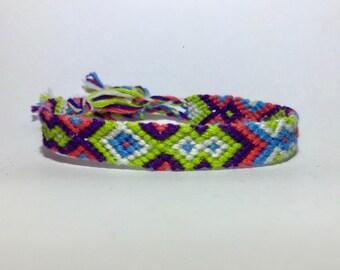 Green/purple Friendship Bracelet strap 2.70