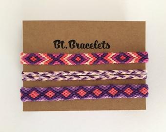 Set friendship straps purple 4.50