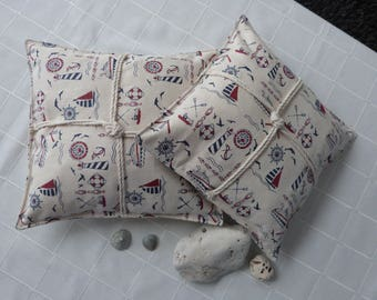 """Two """"sailors"""" decorative pillows"""