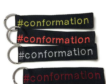 Conformation dog themed key chain