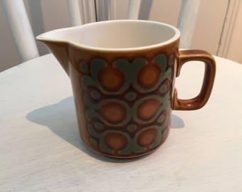 "Hornsey Pottery ""Bronte"" pattern Cream Jug"