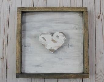 3D Wood Heart Frame