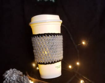 Gray Coffee Cozy