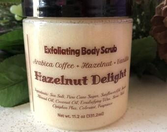 Hazelnut Coffee Hand / Foot / Body Sugar Scrub / Emulsified Sugar Scrub / Handmade / Vegan Friendly /  Gift For Her / FREE SHIPPING (US)