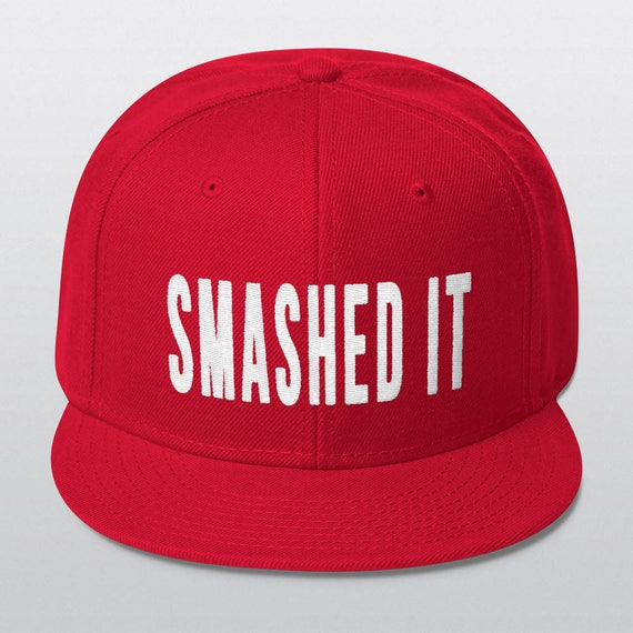 SMASHED IT | Wool Blend Snapback Cap | 6 Colors