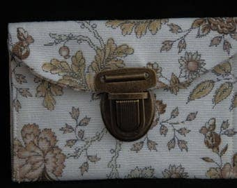 Wallet Brown, beige and white