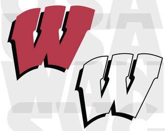 wisconsin badgers svg, wisconsin badgers png, wisconsin university dxf, logo badge emblem basketball football ncaa college instant download