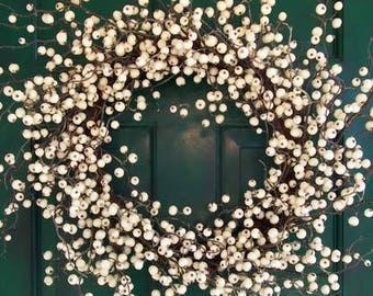White Winterberry Wreath