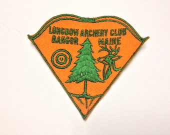 Vintage Longbow Archery Club Bangor Maine Longbow Bowhunting Patch