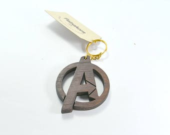 Wooden The Avengers keychain