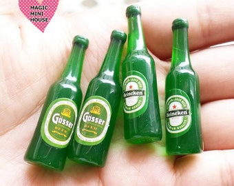 Miniature Beer Bottles 2pcs