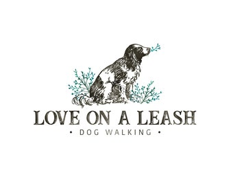 Dog Logo, Dog Walker Logo, Pet Logo, Dog Groomer Logo, Dog Trainer Logo, Pet Photography Logo, Logo Set, Premade Logo, Logo Design