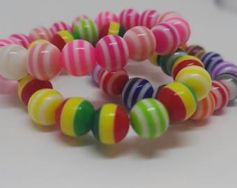 Children's beaded bracelet - stocking filler - advent calendar filler - girls gift - boys gift