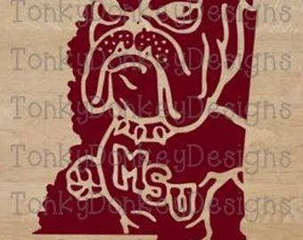 Mississippi State Bulldogs Cut File (dxf, jpeg, eps, svg, studio3) for cutting machines (Cricut, Silhouette, Brother, etc.)