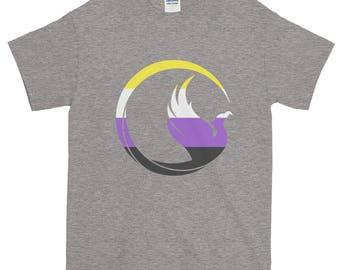 Non-Binary Pride Phoenix Unisex Short-Sleeve T-Shirt, lgbt, lgbtq, lgbtqipa, queer