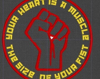 Your Heart Is A Muscle The Size Of Your Fist patch resistance queer revolution LGBT LGBTQ