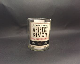 HANDCRAFTED Candle Old Whiskey River Bourbon Whiskey BOTTLE Soy Candle. Made to Order!!!