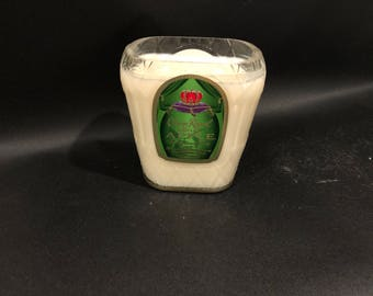 750ML Crown Royal Candle Apple Whiskey BOTTLE Soy Candle With/Without Pedestal Base. Made To Order !!!!!