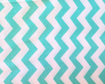 Mint fabric, chevron, mint chevron, mint zigzag fabric, mint stripes fabric, zigzag stripes, summer fabric