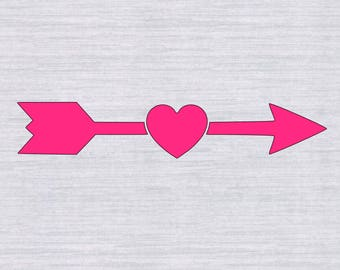 Arrow SVG, Arrow Heart SVG, Arrow Cutting File, Arrow Clipart, Heart Arrow svg, SVG Files, Cricut Cut Files, Silhouette Cut Files