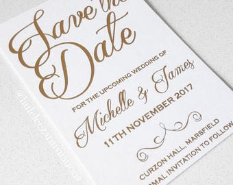Letterpress Save the Date Wedding Invitation