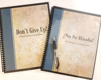 2017 Convention Notebook/ Dont Give Up/ JW Gifts/ English Convention/Spiral Bound Convention Notebook/ Regional Convention