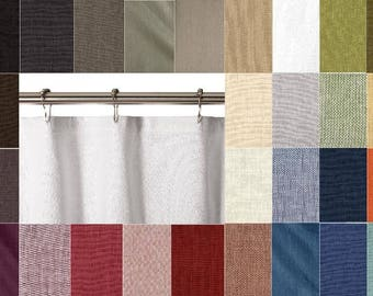 extra brown and red shower curtain. 30 COLORS 100  Washed Linen Shower Curtain 72 X 84 96 Curtains Rings Etsy