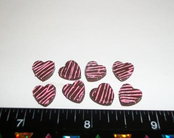 Dollhouse Miniature Handcrafted Valentines Day Chocolate Candy Hearts Sweet Dessert Food for Fashion Size Doll 977