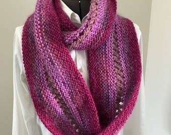 Pink lattice infinity scarf