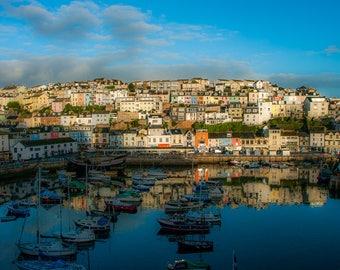 Landscape Photograph, Devon, Brixham, Sunrise, Harbour