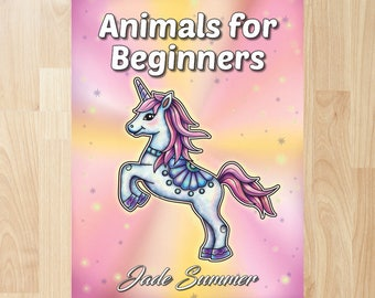 Animals for Beginners by Jade Summer (Coloring Books, Coloring Pages, Adult Coloring Books, Adult Coloring Pages, Coloring Books for Adults)