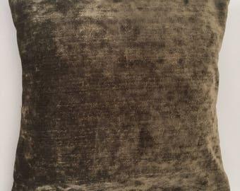 Catania pure velvet chenille feel cushion - Mink