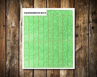 21 Green Glitter Headers - Fits Erin Condren Vertical & Happy Planner