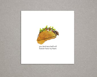 Taco Bell Colorful Collage Print