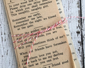 Vintage Newspaper Clippings ~ POEMS~ Junk Journals~ Collage~ Scrapbooking~Mixed Media~ Set of 10~