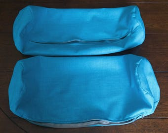 2 Pack of Bolster Pillows COVERS Rave Marine Water Resistant
